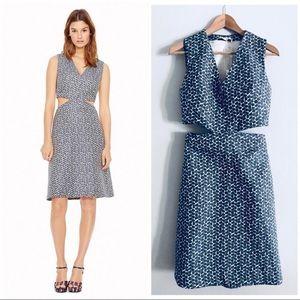 Tory Burch | Sateen Jacquard Cutout Dress Size 6